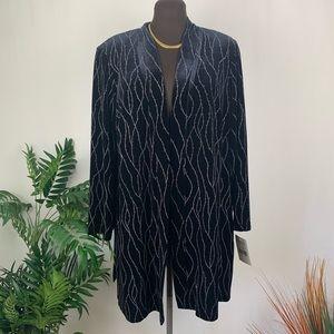 Ronni Nicole ll Black Velvet Kimono Size 16W